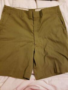 Vtg 70s Boy Scouts Men's Shorts BSA Official Uniform Green Size Waist 36