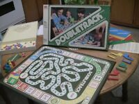 "Vintage ""DOUBLE TRACK"" FAMILY BOARD GAME"" 1981, BY MILTON BRADLEY Complete"