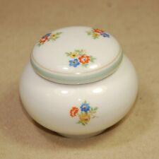 Kleine Rosenthal Marktredwitz Mouson Porzellan Deckeldose Zahndöschen Blumen