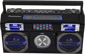 Studebaker Boombox w/ Bluetooth® , FM Radio, CD Player - 10 Watts - SB2145B