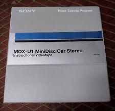 Sony MDX-U1 MiniDisc Car Stereo Instructional VHS Video Training Program