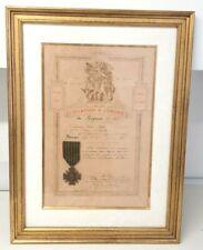Cadre citation ordre du Régiment Croix de Guerre 1914-18 Téléphoniste Berreur