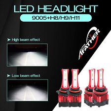 H8/H9/H11 9005 Car Led Headlight Bulbs High&Low Single Beam 2000W 240000Lm 6000K