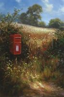 """DAVID DIPNALL """"Summer Note"""" postbox field SIGNED LTD ED SIZE:41cm x 29cm NEW"""