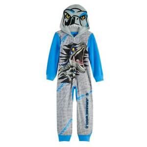 Jurassic World Dinosaur Fleece Union Suit Pajamas Size 6 or 10 NWT $42 RV