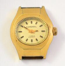 Vintage Cardinal 17 Jewels shockproof Ladies watch gold plate
