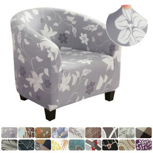 Hot Elastic Polyester Fabric Tub Chair-Cover Armchair Sofa Seat Covers Slipcover