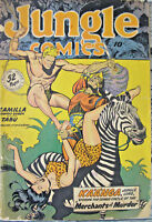 Jungle Comics Merchants of Murder Golden Age 1948 #108 Kaanga Canukka Tabu