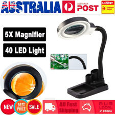 Magnifying Tool Crafts Glass Desk Lamp With 5X & 10X Magnifier 40 LED Lighting