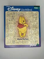 "DISNEY Winnie the Pooh Sketchbook 500+ Piece COMPLETE Puzzle 18""X18"" By Buffalo"
