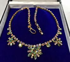 Joyas Vintage espumoso Aurora boreal collar de diamantes de imitación