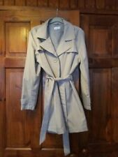 DAMART Beige Button Through Classic Midlength Trench Coat Size M . 14-16.