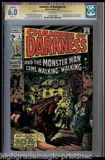 CHAMBER OF DARKNESS #4 CGC 6.0 WHITE PAGES SS STAN LEE SIGNED CGC #1182925008