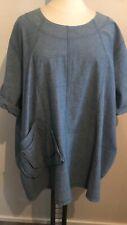 LA BASS Jeans-Tunika blau Gr 50-56 (3) Lagenlook Taschen