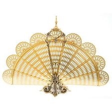 New Spark arrestor fan out for fireplace or fireplace in polished brass