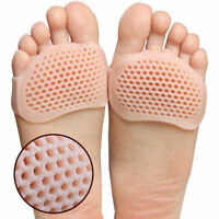 2 Pair Silicone Honeycomb Forefoot Painful Foot Pad Reusable Pain Relief