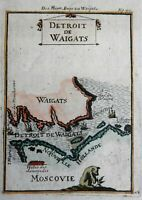 Vaygach Island Yugrosky Strait Russian Empire 1719 Mallet map