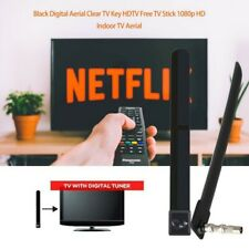 TV Signal Booster Ultra Thin 1080P Indoor HD TV Antenna with 100 Free Channels