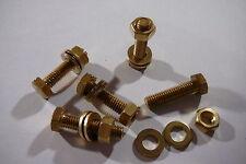 M6x20 brass hex tête boulons écrous & rondelles (Pack de 5) ensemble en laiton Vis X5