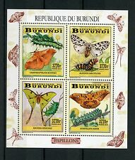 Burundi 2014 MNH Butterflies & Caterpillars 4v M/S II Insects Papillons