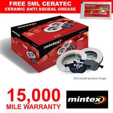 MINTEX BRAKEBOX PADS DISCS FRONT FOR RENAULT 19  CLIO MEGANE SCENIC TWINGO VAN