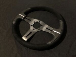 NRG ST-033 Suede & Leather Universal Steering Wheel - Fits Momo/Sparco Pattern