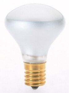 Satco S4701 120V Intermediate Base 40-Watt R14 Light Bulb, Clear