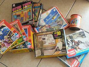 13 x 1960's / 70's TV related vintage jigsaw puzzles - UFO, Joe 90, Star Trek