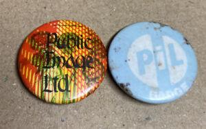 PIL Public Image Limited Punk rock Indie Badges 1980s Original Red Moon