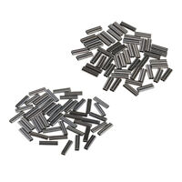 100Pcs Fishing Crimps Double Barrel Crimping Sleeves Wire Trace 0.8mm 1.2mm