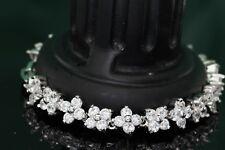 "6ct. Brilliant Round Cut Diamond 7"" Tennis Bracelet 14K White Gold Finish"