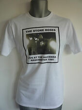 THE STONE ROSES LIVE HACIENDA MANCHESTER 1985 T-SHIRT BROWN SQUIRE MADCHESTER
