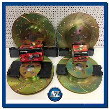 Toyota Celica 2.0 turbo GT4 ST205 Front Rear dimpled gooved brake discs pads