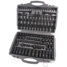 Impact Socket Set 119pc 1/2 and 3/8 Deep, Shallow, METRIC, IMPERIAL, HEX, TORX,