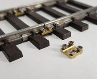10 Schienenverbinder für  das Spur 1 Gleis mit Edelstahlschrauben (NEUHEIT)