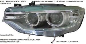 FARO FANALE ANTERIORE SINISTRO 10852 BMW SERIE 4 COUPE F32 - F33 CABRIO 2013
