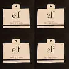 Lot of 4 e.l.f. Cosmetics Shine Eraser Blotting Sheets, 30 Sheets Per Pack #1736