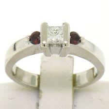 Anillos de joyería con gemas transparentes solitario diamante