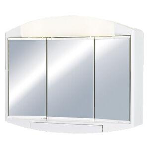 Spiegelschrank Badschrank Elda Badspiegel Badezimmer Spiegel 3-türig Licht+Dose