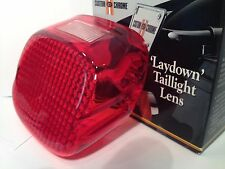 Drag Specialties Laydown Red Taillight Lens Top Window Harley Davidson 1973-1998