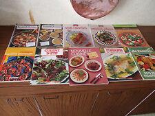 Lot de 10 grands livres sur l'art culinaire, d'été, pas chère, provençale, champ