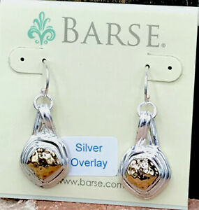 Barse Allure Earrings- Bronze & Silver Overlay- New With Tags