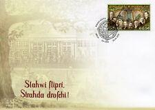 Latvia 2018 FDC Riga Latvian Society 150th Anniv 1v Set Cover People Stamps