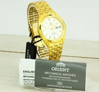 NEW Orient 3 stars Crystal automatic men's watch day/date. White dial