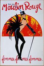 affiche originale  BAL DU MOULIN ROUGE  (1983) * GRUAU * 40 x 60 cm lithographie