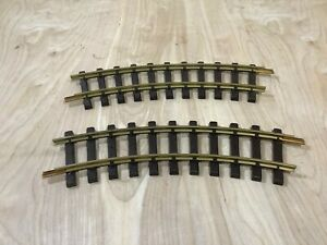 Lot 2 Curve LGB Straight Track Brass No.1100 Lot of G Scale Trains By Lehmann