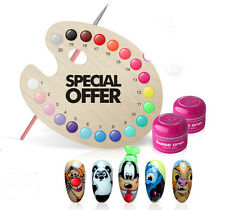 SILCARE Base One Paint Gel - decorating ART Nail Manicure - SELECT COLOUR