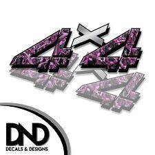 4x4 Decals 2 Pk Sticker Chevy Silverado Sierra truck - Pink Original - D&2