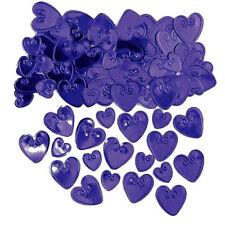 Confettis de table Cœurs en plastique métallisé violet à relief [3677841] decor