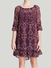 Ella Moss Women's Purple Dress Baroque Silk Sz M $228 I1018